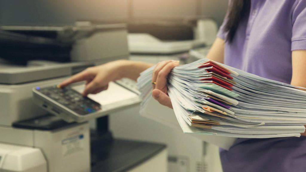 Cómo funciona una fotocopiadora